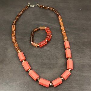 Coldwater Creek Large Bead Necklace and Bracelet